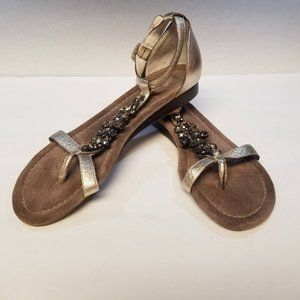 """Nicole Shoes Leather T Strap """"Don't Tell"""" Sz 7.5"""